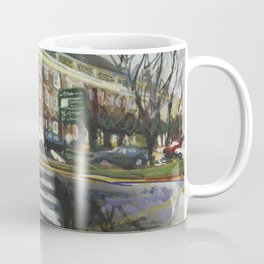 Rainy reflections of the Perry Mill, Winter 1998 Coffee Mug