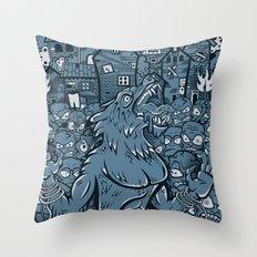 WOLVES OF PERIGORD Throw Pillow