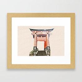 ArtWork Fushimi Inari Art Painting Kyoto Japan Framed Art Print