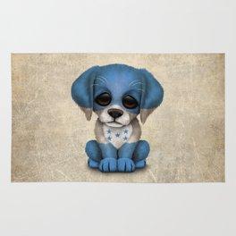 Cute Puppy Dog with flag of Honduras Rug