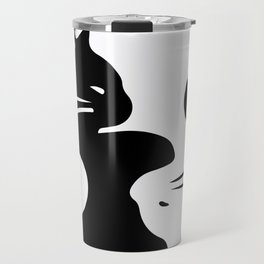 yin yang cats Travel Mug