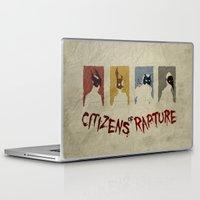 bioshock Laptop & iPad Skins featuring Bioshock - Citizens of Rapture by Art of Peach