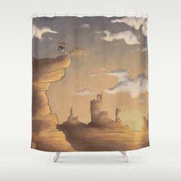 Cliff Jumper Shower Curtain