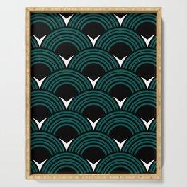 Art Deco Shell Print Serving Tray