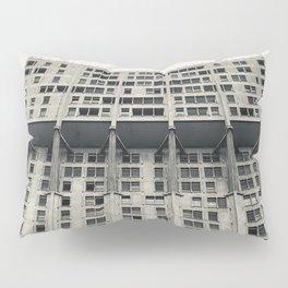 Velasca Tower, Milan skyscraper, black & white photography, Milano, Lombardia Pillow Sham