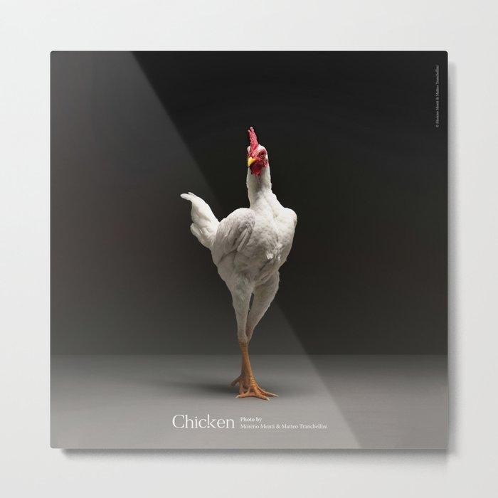 Chic!ken - Modern English Game Fowl Metal Print by atellani