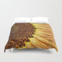 fibonacci Duvet Covers featuring Sunflower by ThePhotoGuyDarren
