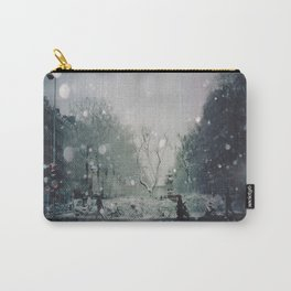 A Winter's Eve In Canal St Martin, Paris Carry-All Pouch