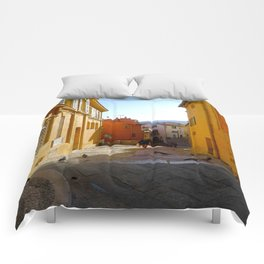 End of Day in Menton Comforters