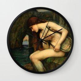 "John William Waterhouse ""The Siren"" Wall Clock"
