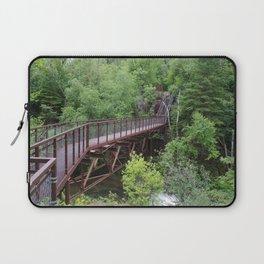 Bridge to a Waterfall Laptop Sleeve