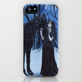 Midnight Travelers Gothic Fairy and Unicorn iPhone Case
