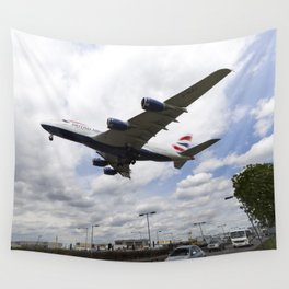 British Airways A380 Heathrow Airport Wall Tapestry