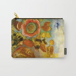 "Odilon Redon ""Two Young Girls among Flowers"" Carry-All Pouch"