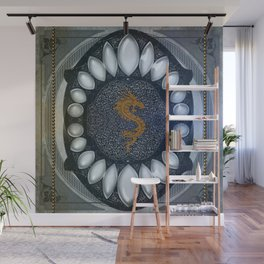 Golden chinese dragon Wall Mural