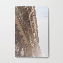 Balconies of Barcelona   Spain   Travel photography print   Architecture Photo art Metal Print