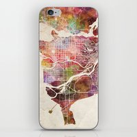 vancouver iPhone & iPod Skins featuring Vancouver by MapMapMaps.Watercolors