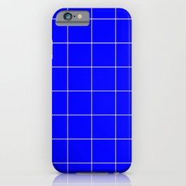 Graph Paper (White & Blue Pattern) iPhone Case