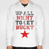 bucky barnes Hoodies featuring Up All Night Bucky Barnes by BethTheKilljoy