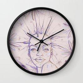 Dandelioness Wall Clock