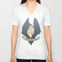 destiel V-neck T-shirts featuring [ Supernatural ] Destiel Castiel Dean Winchester by Vyles