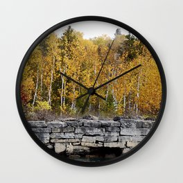 Neebish Rock Cut Wall Clock