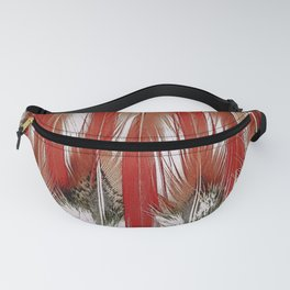 Red Top Pheasant Feathers Fanny Pack
