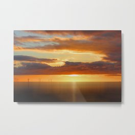 Irish Sea - Heavy Skys (Digital Art) Metal Print