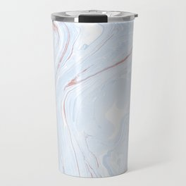 Blue Orange Marble Retro Marble Paper Travel Mug