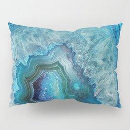 Aqua Turquoise Crystal Mineral Gem Agate Pillow Sham