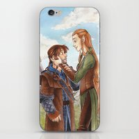 kili iPhone & iPod Skins featuring Kili and Tauriel by CaptBexx