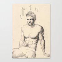 religious Canvas Prints featuring Handsome Religious Man by Adam Wilson Holmes
