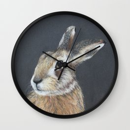 The Hares Stare Wall Clock