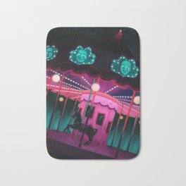 Pink and Purple Carnival Bath Mat