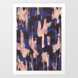Paint Marks Camo Abstract Pattern Art Print