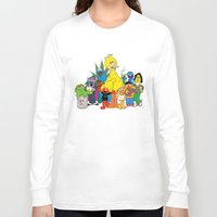 sesame street Long Sleeve T-shirts featuring Sesame Street Stoners by Instrum