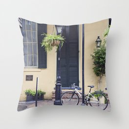New Orleans Andrew Jackson Bicycle Throw Pillow