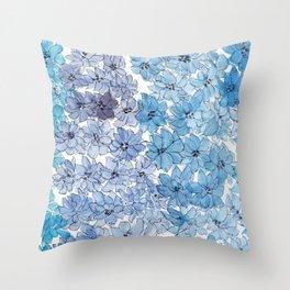 Light Blues Throw Pillow