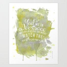 LYRICS - Meet me in outerspace - COLOR Art Print