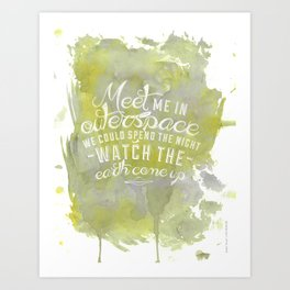 LYRICS - Meet me in outerspace - COLOR Art Print