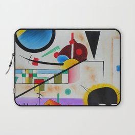 1924 Classical Masterpiece 'Contrasting Sounds' by Wassily Kandinsky Laptop Sleeve