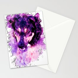 dog 3 perfect purple Stationery Cards