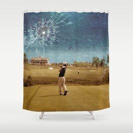 Broken Glass Sky Shower Curtain