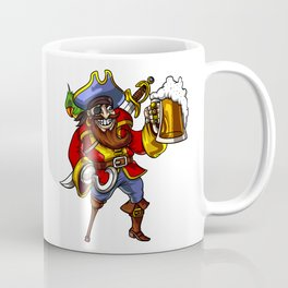 Pirate Sailor Drinking Beer Party Coffee Mug