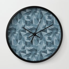 Abstract Geometrical Triangle Patterns 3 Behr Blueprint Blue S470-5 Wall Clock