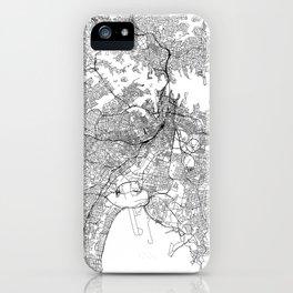 Sydney White Map iPhone Case