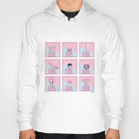 talking heads Hoodies featuring Heads by Bruno Gabrielli