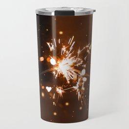 Golden Sparklers (Color) Travel Mug