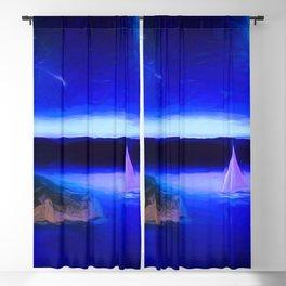 Deep Blue Calm Sea Blackout Curtain