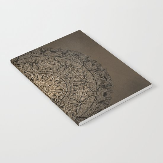 Sepia Mandala Notebook